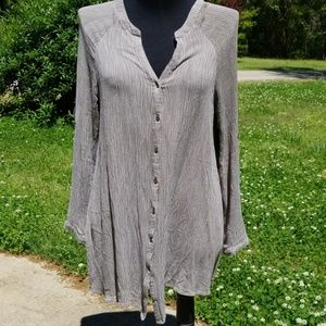 UMGEE Gauze Gray Shirt Dress